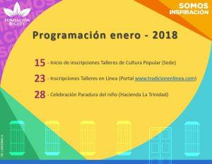 actividades enero 2018